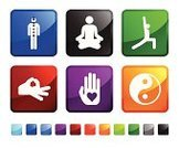 Yoga,Human Hand,Stick Figure,Lotus Position,Computer Icon,Yin Yang Symbol,Icon Set,Stretching,Blue,Label,Love,Red,Design,Square,Green Color,Black Color,Vector,White Background,Human Heart,Empty,Shiny,Spirituality,Square Shape,Sparse,Ilustration