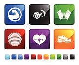 Dumbbell,Strength,Computer Icon,Muscular Build,Exercising,Icon Set,Glove,Human Arm,Sports Glove,Weights,Shoe,Sports Shoe,Pulse Trace,Heart Shape,Square Shape,Shiny,Square,Vector,Black Color,Equipment,Blue,Green Color,Label,Design,Ilustration,Empty,Red,Ball,White Background,Sparse