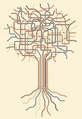 Root,Tree,Diagram,Order,Connection,Striped,Multi Colored,Node,Plant,Nature,Branch,Shape,Vector,Color Image,Computer Graphic,Illustrations And Vector Art,Plants,color coded,Nature,color-coded,Ilustration,Brown,Design Element