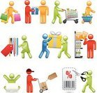 Shopping,Symbol,E-commerce,People,Retail,Sale,Selling,Coupon,Icon Set,Stick Figure,Store,Groceries,Delivering,Consumerism,Buying,Food,Shopping Cart,Gift,Shopping Bag,Business,Basket,Paying,Bar Code,Concepts,Vector,Simplicity,Clothes Rack,Ilustration,Laptop,Shopping Basket,Design Element,Color Image,Label,Multi Colored,Lifestyles,Consumerism,Vector Icons,People,Commercial Activity,Gift Box,Information Symbol,Concepts And Ideas,Illustrations And Vector Art