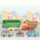 Car,Transportation,Traffic,Cartoon,Truck,Road,Sketch,Street,In A Row,Bus,Urban Scene,Crowded,Land Vehicle,Backgrounds,Group of Objects,Parade,Public Transportation,Watercolor Painting,Ilustration,Townhouse,Motorcycle,Village,Vector,Humor,Drawing - Art Product,Mode of Transport,City Life,Outdoors,Lifestyles,Lifestyle,Illustrations And Vector Art,Town,Cheerful,Summer,Pencil Drawing,Real Estate,Transportation,Mini Van,Multi Colored,Cute,Apartment,Lifestyle Backgrounds