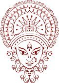 Durga,India,Goddess,Human Face,God,Indian Ethnicity,Hinduism,Calligraphy,Spirituality,Drawing - Art Product,dharma,Line Art,Creativity,Ilustration,Design Element,Vector,Ornate,Lords,Sketch,hand drawn,Indian Subcontinent Ethnicity,Ethnicity,Religion,Decoration,Illustrations And Vector Art,Concepts And Ideas,Religion,Clip Art