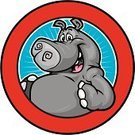 Hippopotamus,Mascot,Cartoon,Teamwork,Ilustration,Safari Animals,Cheerful,Vector,White Background,School Children,Happiness,Design,Gray,Wild Animals,Animals And Pets,Vector Cartoons,Mammal,Illustrations And Vector Art,Mammals,Isolated,Animals In The Wild,Wildlife,Looking At Camera,Pattern