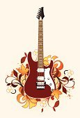 Guitar,Floral Pattern,Rock and Roll,Swirl,Electricity,Popular Music Concert,Music,String,Spray,Musical Instrument String,Dirty,Decoration,Art,Pattern,Paintings,Scroll Shape,Single Object,Design,Fashion,Vector,Funky,Painted Image,Play,Ilustration,Music Style,Shape,Visual Art,Arts And Entertainment,fingerboard,Image,Playing,Style,Equipment,Musical Instrument,Design Element,Grunge,Music,Modern,Elegance,Arts Abstract,Abstract,Ornate,Curled Up,Sound