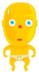 Characters,Staring,Baby,Humor,Vector,Safety Pin,Concepts And Ideas,Diaper,Lifestyle,People,Serious,Character Traits,Cartoon,Babies And Children,Ilustration,Child,Fun,Yellow