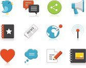 Symbol,Computer Icon,Sharing,Icon Set,Photography,Newspaper,Megaphone,Photo Album,Web Page,Internet,Broadcasting,Document,Set,Vector,Writing,Bird,Heart Shape,Pencil,Collection,Discussion,Speech Bubble,Group of Objects,Thought Bubble,Reflection,Social Networking,vector icon,Internet Icon