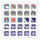 Symbol,Icon Set,Weather,Thermometer,Moon,Sign,Clear Sky,Sun,Sky,rain rainy,Cloud - Sky,Illustrations And Vector Art,Ilustration,Nature,Arranging,Color Image,Heat - Temperature,Colors