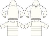 Hooded Shirt,Sweatshirt,template,Jacket,Shirt,Sweater,Clothing,Outline,Fashion,Design,Garment,Sleeve,Line Art,Clip Art,Vector,Blank,Ilustration,Sketch,Rear View,Drawing - Art Product,Front View,Male,Isolated,Sports And Fitness,Funky,Illustrations And Vector Art,Computer Graphic,Youth Culture,Isolated Objects,Casual Clothing