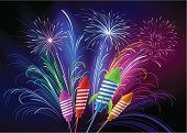 Firework Display,Rocket,Pyrotechnics,Celebration,Showing,Christmas,New,Carnival,Year,Vector,Exploding,Backgrounds,Fire - Natural Phenomenon,Working,Blue,Traditional Festival,Night,Happiness,Color Image,Saluting,Sky,Drawing - Art Product,Humor,Event,Fun,Multi Colored,Pencil Drawing,Abstract,Sketch,Illustrations And Vector Art,Holidays And Celebrations,Holiday Backgrounds,Ilustration,New Year's,Vector Backgrounds,Anniversary,Beauty,Dark,Bright,Holiday