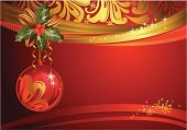 Christmas Card,Christmas,Greeting Card,Holly,Bow,Gold Colored,Backgrounds,Wishing,Red,Christmas Ornament,Red Background,Berry Fruit,Leaf,Christmas Decoration,Snowflake,Decorating,Single Object,Backdrop,Ribbon,Winter,Decor,Sphere,Celebration,Winterberry Holly,Vector,Vector Backgrounds,Curve,Christmas,Illustrations And Vector Art,Convex,Holidays And Celebrations,Holiday Backgrounds,Hanging,Ornate,Glass - Material,Shiny