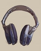 Headphones,Music,Arts And Entertainment,Music,Lifestyle,Isolated Objects,Sound,Vector,Ilustration,Incomplete