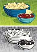Salsa,Dip,Food,Tortilla Chip,Bowl,Etching,Woodcut,Mexican Culture,Dipping,Mexican Cuisine,Ilustration,Old-fashioned,Southwest USA,Vector,Color Image,Tomato Salsa,Isolated Objects,Spiral,Food And Drink,Textured,Grayscale,Ink Drawing,Healthy Eating,Isolated,Isolated On Green,Salsa Cruda,Illustrations And Vector Art,Black And White,Food And Drink
