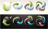 Arrow Symbol,Continuity,Turning,Sphere,Variation,Circle,Direction,Vector,Symbol,Digitally Generated Image