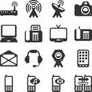 Computer,Mobile Phone,Telephone,Router,Television Set,Vector,Computer Icon,Icon Set,Smart Phone,Satellite Dish,Communication,Modem,Fax Machine,E-Mail,Wireless Technology,Laptop,Camera - Photographic Equipment,Text Messaging,Set,Mail,Envelope,Illustrations And Vector Art,photo camera,Video Conference Camera,Vector Icons