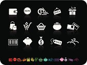 Symbol,Computer Icon,Shopping,White,Sale,Icon Set,Gift,Black Color,Internet,Purse,Currency,Credit Card,Pig,Coathanger,Shopping Cart,Interface Icons,Simplicity,Coin,Sign,Shopping Basket,Shopping Bag,Colors,Bar Code,Reflection,Vector