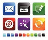 Computer Icon,Icon Set,Internet,Web Page,E-Mail,Square Shape,Writing,Design,Inbox,Cursor,Computer Mouse,Green Color,Envelope,Letter,Sparse,Send,Arrow Symbol,Receiving,Blue,Mail,Communication,Empty,Ilustration,Refreshment,Vector,Pencil,Red,Black Color,White Background,No People