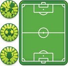 Soccer,Soccer Field,Child,Soccer Ball,Stadium,Ball,Playing,Playing Field,Trophy,Sport,Sphere,Competition,Yellow,Sports League,Sports And Fitness,Youth League,Green Color,Illustrations And Vector Art,Kids' Soccer,Vector Cartoons,Dribbling,Award,Badge,Color Image