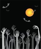 Zombie,Halloween,Human Hand,Ghost,Silhouette,Party - Social Event,Invitation,Spooky,Horror,People,Crowd,Moon,Bat - Animal,Placard,Cartoon,Dead Person,Fear,Vector,Dark,Vertical,October,Composition,Night,Ugliness,Art,Holidays And Celebrations,Celebration,Fun,Holiday,Halloween,Ilustration,Season,Vector Backgrounds,Illustrations And Vector Art,Holiday Backgrounds,Light - Natural Phenomenon