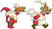 Christmas,Dinner,Garden Gnome,Domestic Kitchen,Turkey,Cooking,Dining,Christmas Decoration,Party - Social Event,Dinner Party,Celebration Event,Celebration,Fete,Sweet Food,Christmas,Vector Icons,Holidays And Celebrations,Food And Drink,Gourmet,Dessert,Illustrations And Vector Art