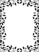 Christmas,Frame,Holly,Black Color,Black And White,White,Pattern,Branch,Leaf,Old-fashioned,Bush,Summer,Retro Revival,Floral Pattern,Ilustration,Berry Fruit,Abstract,Ornate,foliagé,Vector,Plant,Decoration,Backgrounds,Plants,Vector Ornaments,Season,Nature,Vector Florals,Illustrations And Vector Art,Nature,Design,1940-1980 Retro-Styled Imagery