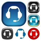 Headset,IT Support,Symbol,Computer Icon,Support,Headphones,Microphone,Voice,Red,Vector,Circle,Square Shape,Talking,Chrome,Shiny,Black And White,Vector Icons,Illustrations And Vector Art,telephone support,Voice Chat