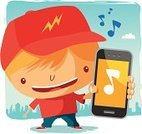 Mobile Phone,Telephone,Little Boys,Child,Music,Cartoon,Teenager,Humor,Technology,Urban Scene,Adolescence,Cute,City Life,Vector,Laughing,Illustration Technique,Fun,Connection,Blond Hair,Happiness,Satisfaction,Cheerful,Cap,Teenage Boys,Clip Art,Summer,Outdoors,Communications Technology,Ilustration,Vibrant Color,Smiling,Message,Global Communications,Joy,Telecom,Enjoyment,Communication,Babies And Children,Technology,Lifestyle,Teens