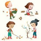 Child,Gardening,Walking,Rake,Little Girls,Planting,Chores,Autumn,Volunteer,Leaf,Little Boys,Squirrel,Gardening Equipment,Mole,Shovel,Plant,People,Recreational Pursuit,Happiness,Dirt,Cheerful,Vector,Animal,Ilustration,Friendship,Season,Kneeling,Flower Bulb,Set,Nature,Bird,Activity,Outdoors,Cute,Rabbit - Animal,Boot,Pets,Pruning,Multi-Ethnic Group,Bush,Basket,Tulip,Protective Glove,Gardening Glove,Pliers,Multi Colored