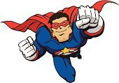 Superhero,Superman - Superhero,Heroes,Flying,Cartoon,Cape,Men,Muscular Build,Macho,Strength,Human Muscle,Power,Toughness,Vector,Careless,Courage,Smiling,White,Confidence,Authority,Mask,Male,Red,Ilustration,valiant,Blue,forceful,Solid,Rough,Burly,Star Shape,Honor,People,Actions,Vector Cartoons,Fighting Crime,Illustrations And Vector Art