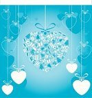 Gift,Heart Shape,Christmas,Christmas Decoration,Holiday,Christmas Ornament,Blue,Abstract,Christmas Tree,Decoration,Christmas,New Year's,Holiday Backgrounds,Holidays And Celebrations,Christmas Stocking,Vibrant Color,Monochrome,Christmas Present,Bright