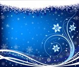 Snowflake,Christmas,Backgrounds,Winter,Snow,Vector Florals,Illustrations And Vector Art,Blue,Ilustration