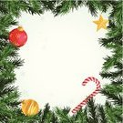 Christmas,Wreath,Frame,Evergreen Tree,Candy Cane,Christmas Ornament,Vector,Backgrounds,Green Color,Christmas Decoration,Above,Shiny,Christmas,Yellow,Holidays And Celebrations,Gold Colored,Copy Space,Ilustration,Star Shape