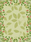 Holly,Frame,Christmas,Backgrounds,Retro Revival,Pattern,1940-1980 Retro-Styled Imagery,Old-fashioned,Branch,Leaf,Plant,Ornate,Bush,Tree,Floral Pattern,Vector,Summer,Season,Green Color,foliagé,Ilustration,Illustrations And Vector Art,Decoration,Nature,Abstract,Design,Vector Ornaments,Plants,Berry Fruit,Nature,Vector Florals