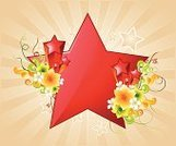 Sunbeam,Backgrounds,Floral Pattern,Shiny,Red,Communication,Illustrations And Vector Art,Vector Backgrounds,Vector Florals,Concepts And Ideas,Swirl,Copy Space,Projection,Star Shape,Star Burst