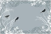 Bird,Branch,Nature,Crow,Ilustration,Plant,Animal,Perching,Sparse,Painted Image,Dark,Solitude,Sky,Ideas,Art,Spooky,Halloween,Concepts,Standing,Bizarre
