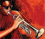 Jazz,Trumpet,Blues,Musician,Backgrounds,Retro Revival,Vector,Music,Playing,Drawing - Art Product,Brass Instrument,Drawing - Activity,Brass Band,Pencil Drawing,African Descent,Performance,Performing Arts Event,Arts And Entertainment,Music,Illustrations And Vector Art,Ilustration,Computer Graphic,Grunge