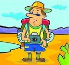 Guide,Tourist,Photographer,Happiness,Camera - Photographic Equipment,Cheerful,Tourism,Cartoon,Vector,Joy,Mascot,Standing,Characters,Photography,Bag,Pants,Photographing,Lifestyle,Water,Hat,Illustrations And Vector Art,Men,Hobbies,Vector Cartoons,Arts And Entertainment,Ilustration,Young Adults,Leisure Activity