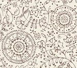 Wallpaper,Flower,Pattern,Floral Pattern,Seamless,Retro Revival,Old-fashioned,Vector,Leaf,Abstract,Ilustration,Image