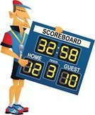 Scoreboard,Coach,Scoring,Basketball - Sport,Cartoon,Sport,Ilustration,Team,Sign,Men,Holding,Winning,Leisure Games,Competition,Vector,Loss,Isolated On White,Teamwork,Sports Team,Visit,White Background,Male,Success