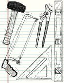 Hammer,Design Element,Scribble,Hand Saw,Computer Graphic,Triangle,Drawing - Art Product,Art,Level,Ilustration,Pliers,Sketch,Cool,Vector,Design,Line Art,Paper,Style,Abstract,Lined Paper,Household Objects/Equipment,Pen And Marker,Clip Art,Illustrations And Vector Art,Industry,Objects/Equipment,Rough,Backgrounds,Funky,Modern,Construction,Doodle