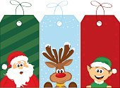 Christmas,Elf,Santa Claus,Gift Tag,Cartoon,Child,Reindeer,Label,Characters,Cute,Rudolph The Red-nosed Reindeer,Holiday,Drawing - Art Product,Ilustration,Hat,Santa Hat,Real People,Vector,Smiling,Snow,String,Happiness,Striped,Beard,Bell,Friendship,Fur,Holidays And Celebrations,Hairy,Vector Cartoons,Blue,Red,Holiday Backgrounds,Green Color,Old,Snowflake,Animal Hair,Christmas,Illustrations And Vector Art