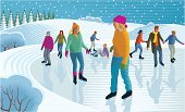 Ice Skate,Ice Rink,Ice,Ice-skating,Snowball,Family,Winter,Christmas,Sport,Fun,Child,Cold - Termperature,Snow,Outdoors,Celebration,Play,Snowdrift,Winter Sport,Snowflake,Coat,Cheerful,Tree,Activity,Enjoyment,Hat