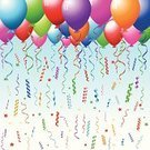 Balloon,Birthday,Confetti,Streamer,Vector,Backgrounds,Celebration,Party - Social Event,Christmas,Holiday,Vector Backgrounds,Holidays And Celebrations,Illustrations And Vector Art