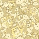 Rose - Flower,Seamless,Textured Effect,Flower,Beige,Floral Pattern,Illustrations And Vector Art,Vector Florals,Decoration,Vector Ornaments,No People,Vector,Ilustration,Ornate,Backgrounds