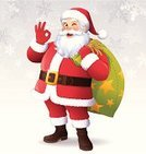 Santa Claus,Cartoon,Christmas,Winking,Beard,Sack,Gift,Cheerful,Standing,Smiling,OK Sign,Happiness,Holiday,OK,Christmas Present,Laughing,Greeting,Snowflake,Celebration,Looking At Camera,Senior Adult,Hand Sign,Vector Cartoons,Gesturing,Christmas,White Hair,Illustrations And Vector Art,Holidays And Celebrations,People