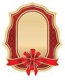Ribbon,Red,Bow,Blank,Gold Colored,Paper,Backgrounds,Pattern,Illustrations And Vector Art,Placard,Bow,Gift,Ornate,Isolated On White,Vector Backgrounds,Vector,Holiday,Label,Greeting Card,Decorating