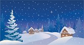 Christmas,Snow,Winter,Non-Urban Scene,Landscape,House,Road,Village,Night,Cartoon,Tree,Vector,Rural Scene,Residential Structure,Scenics,Christmas Card,Fir Tree,Backgrounds,Footpath,Drawing - Art Product,Evergreen Tree,Horizontal,Snowing,No People,Forest,Built Structure,Outdoors,Blue,Sky,Woodland,Cold - Termperature,Clip Art,Ilustration,Residential District,Building Exterior,Snowdrift,Spruce Tree,Star - Space,Copy Space,Color Image,Christmas,Nature,Illustrations And Vector Art,Season,Nature,Holidays And Celebrations,Winter