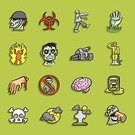Zombie,Symbol,Cartoon,Human Brain,Horror,Computer Icon,Spooky,Human Head,Armed Forces,Human Skull,Design Element,Human Hand,Icon Set,Halloween,Military,Interface Icons,Dead Person,Cross Shape,severed,Armored Tank,Violence,Tombstone,Biohazard Symbol,Sketch,Ilustration,Color Image,Forbidden,Illustrations And Vector Art,War,Green Color,Paranormal,Toxic Waste,Undead,Full Moon,Burning,Colors