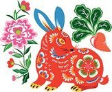 Chinese New Year,Rabbit - Animal,Craft,papercut,Year,Chinese Zodiac Sign,Chinese Culture,China - East Asia,Art,Astrology Sign,Vector,Animal,New,paper-cut,Single Flower,Flower,Year Of The Rabbit,Decoration,paper cut,Craft Product,East Asian Culture,New Year's Eve,Symbol,Carrot,Plant,Cultures,spring festival,Leaf,Clip Art,Radish,New Year's Day,New Year,Ilustration,Blossom,Multi Colored,Traditional Festival