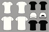 T-Shirt,Shirt,Cap,Clothing,Women's Issues,Blank,templates,Vector,White,Men,Black Color,Design,Front View,Textile,Collection,Rear View,Ilustration,Simplicity,Fashion,Image,Backgrounds,Cotton,Gray,Modern,Isolated,Neat,No People,Set,Group of Objects,Short Hair,Side View,Isolated Objects,Illustrations And Vector Art,Painted Image