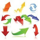 Arrow Symbol,Cursor,Three-dimensional Shape,Green Color,Backgrounds,Circle,Vanishing Point,Moving Up,Moving Down,Computer Icon,Set,Vector,Ilustration,Isolated Objects,Collection,Illustrations And Vector Art,White,Orange Color,Vector Icons,Blue,Red,Shape,Digitally Generated Image,Computer Graphic,Reflection,Shiny